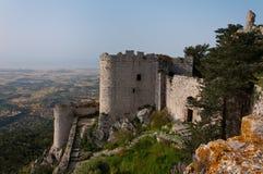 第10个回到城堡世纪塞浦路斯去kantara北始发地 库存照片