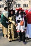 第27个国际化妆舞会比赛&哑剧演员节日Surva 2018年 库存照片