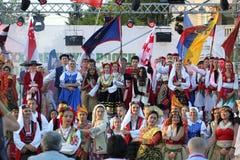第21个国际民间传说节日Vitosha 2017年 免版税库存照片