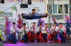 第21个国际民间传说节日Vitosha 2017年 库存照片