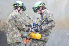 第2个国际消防队员节日,烟特勒根 免版税图库摄影
