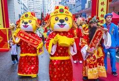 第14个大角咀寺庙公平在香港 库存照片