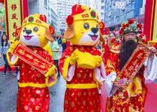 第14个大角咀寺庙公平在香港 免版税库存照片