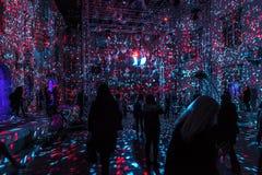"""第16个小店2018年 萨格勒布,克罗地亚†""""灯节在萨格勒布 库存照片"""