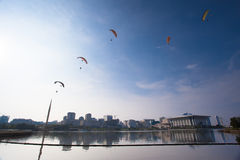 第5个布城国际热空气气球Fi 库存照片