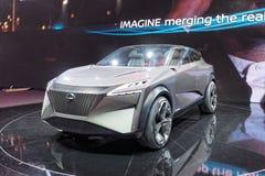 第89个日内瓦国际汽车展示会-日产IMQ概念 免版税库存照片