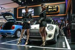 第36个曼谷国际汽车展示会的俏丽的女孩2015年 库存照片