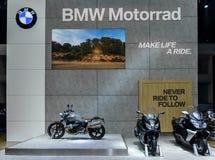 第37个曼谷国际汽车展示会的BMW Motorrad摊 免版税库存图片