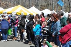 第37个每年黄水仙节日在梅里登,康涅狄格 免版税图库摄影