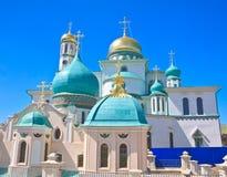 2007第23个耶路撒冷6月修道院新的俄国 Istra 假定大教堂dmitrov克里姆林宫莫斯科明信片区域俄国冬天 免版税库存图片