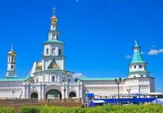 2007第23个耶路撒冷6月修道院新的俄国 Istra 假定大教堂dmitrov克里姆林宫莫斯科明信片区域俄国冬天 免版税库存照片
