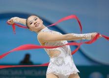 第32个节奏体操世界冠军 图库摄影