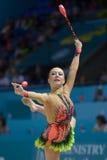 第32个节奏体操世界冠军 免版税图库摄影