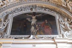 第12个苦路,耶稣在十字架死 免版税库存图片