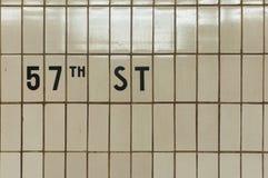 第57个街道地铁瓦片 库存照片