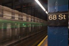 第68个街道地铁站 库存照片