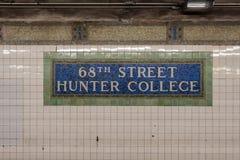 第68个街道地铁站 库存图片