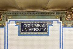 第116个街道地铁站- NYC 免版税图库摄影
