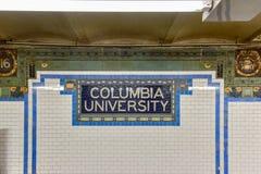 第116个街道地铁站- NYC 免版税库存图片
