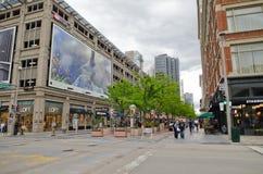 第16个街道购物中心在丹佛科罗拉多 免版税库存图片