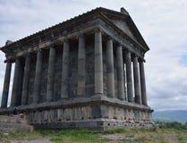第3个结构上亚美尼亚世纪组合复杂文化要素BC设立了garni希腊文化的国民结构寺庙 免版税库存图片