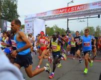 第31个索非亚国际马拉松开始 免版税图库摄影
