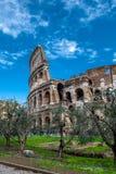 第19个2011年背景colosseum欧洲扣人心弦的论坛去的小山意大利地标找出许多可以多数一张照片罗马罗马被采取对旅游视图访问 库存照片