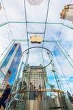 第5个Ave的苹果计算机商店在曼哈顿,纽约 免版税图库摄影