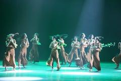 第10中国艺术节舞蹈竞争-女孩跳舞竞争,韩语 免版税库存照片