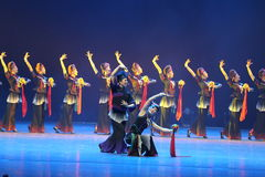 第10中国艺术节舞蹈竞争-女孩跳舞竞争,韩语 库存图片