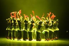 第10中国艺术节舞蹈竞争-女孩跳舞竞争,韩语 免版税库存图片