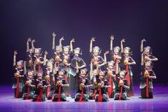 第10中国艺术节舞蹈竞争-女孩跳舞竞争,韩语 库存照片