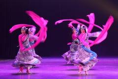 第10中国艺术节舞蹈竞争-西藏舞蹈 免版税库存图片