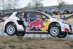 第7冠军loeb计时世界 巴塞罗那FIA世界Rallycross 免版税库存图片