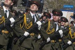 2009年第64 9周年纪念礼仪专用极大ii可能游行爱国正方形到胜利vladimir战争世界 免版税库存照片