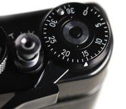 第2015年在一部分的一台减速火箭的影片照相机 免版税图库摄影