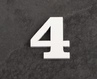 第4 -在灰色背景的空白的图 r 免版税库存照片