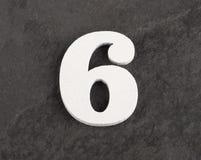 第6 -在灰色背景的空白的图 r 免版税库存图片