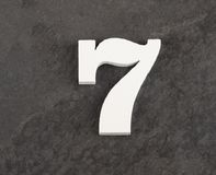 第7 -在灰色背景的空白的图 r 免版税库存照片