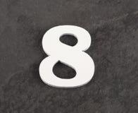 第8 -在灰色背景的空白的图 r 免版税库存照片