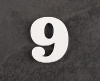 第9 -在灰色背景的空白的图 r 库存图片