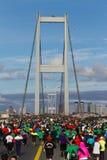 第35场伊斯坦布尔欧亚大陆马拉松 免版税库存图片