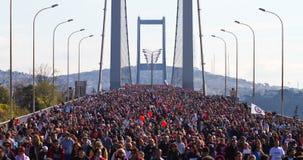 第35场伊斯坦布尔欧亚大陆马拉松 免版税库存照片