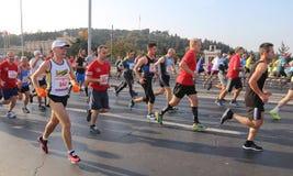 第37场沃达丰伊斯坦布尔马拉松 库存照片