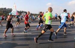 第37场沃达丰伊斯坦布尔马拉松 免版税库存图片