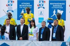 第35场雅典经典马拉松,地道 库存照片