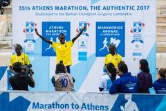 第35场雅典经典马拉松,地道 免版税库存图片