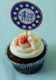 第4块杯形蛋糕7月 免版税库存照片
