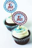 第4块杯形蛋糕7月 免版税图库摄影