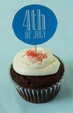 第4块杯形蛋糕7月 免版税库存图片
